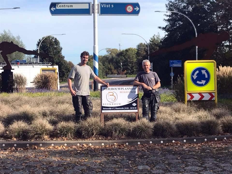 Sponsoring onderhoud rotonde ingang dorp Haastrecht | BeekBouw